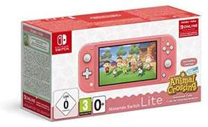Console Nintendo Switch Lite Corail + Animal Crossing: New Horizons Edition + 3 mois abonnement Nintendo online