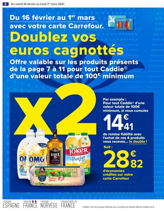 Remise fidélité doublée sur une sélection de produits pour tout achat de 100€ minimum