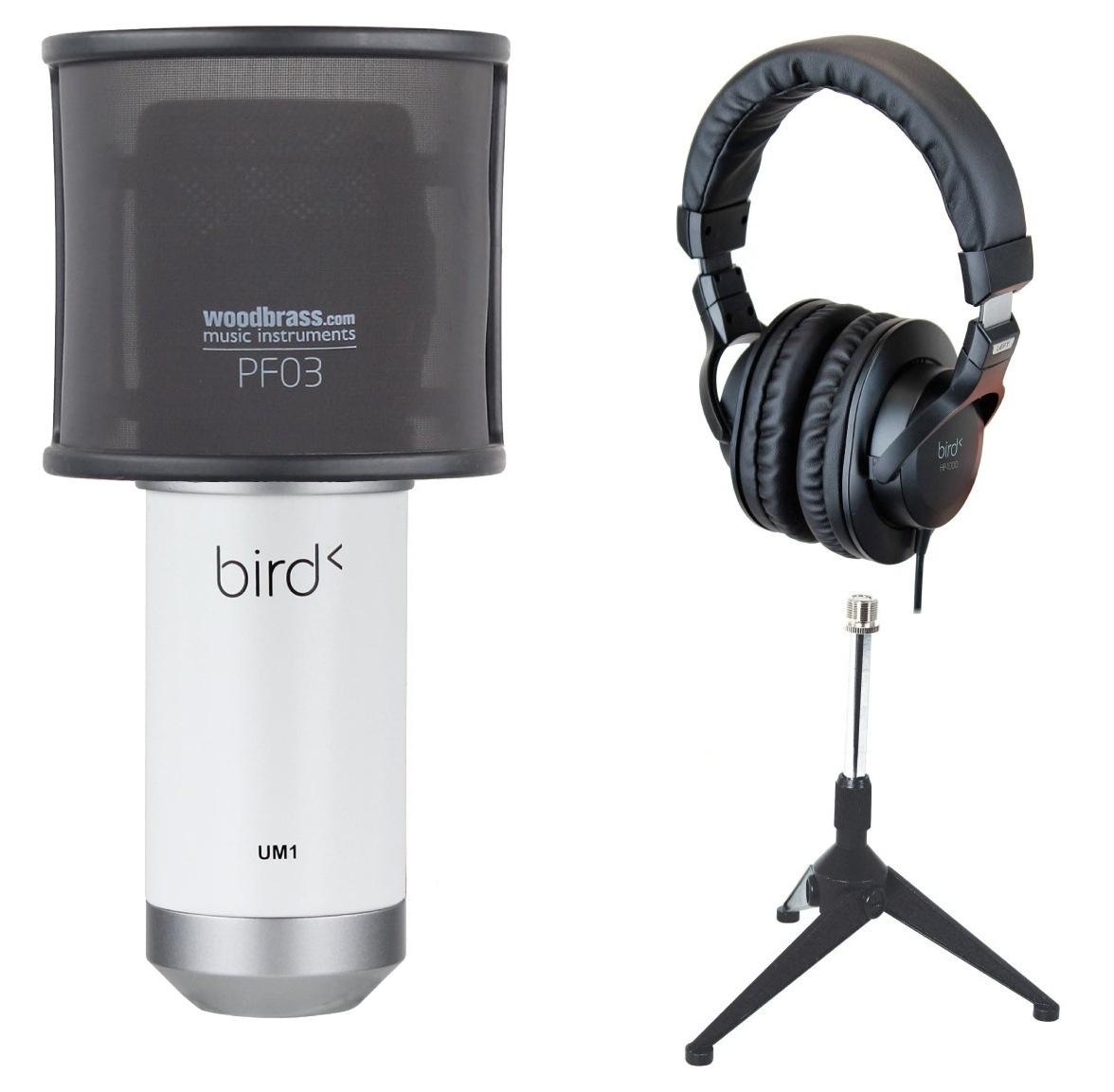 Pack Microphone Bird UM1 SW + Trépied + Filtre anti-pop
