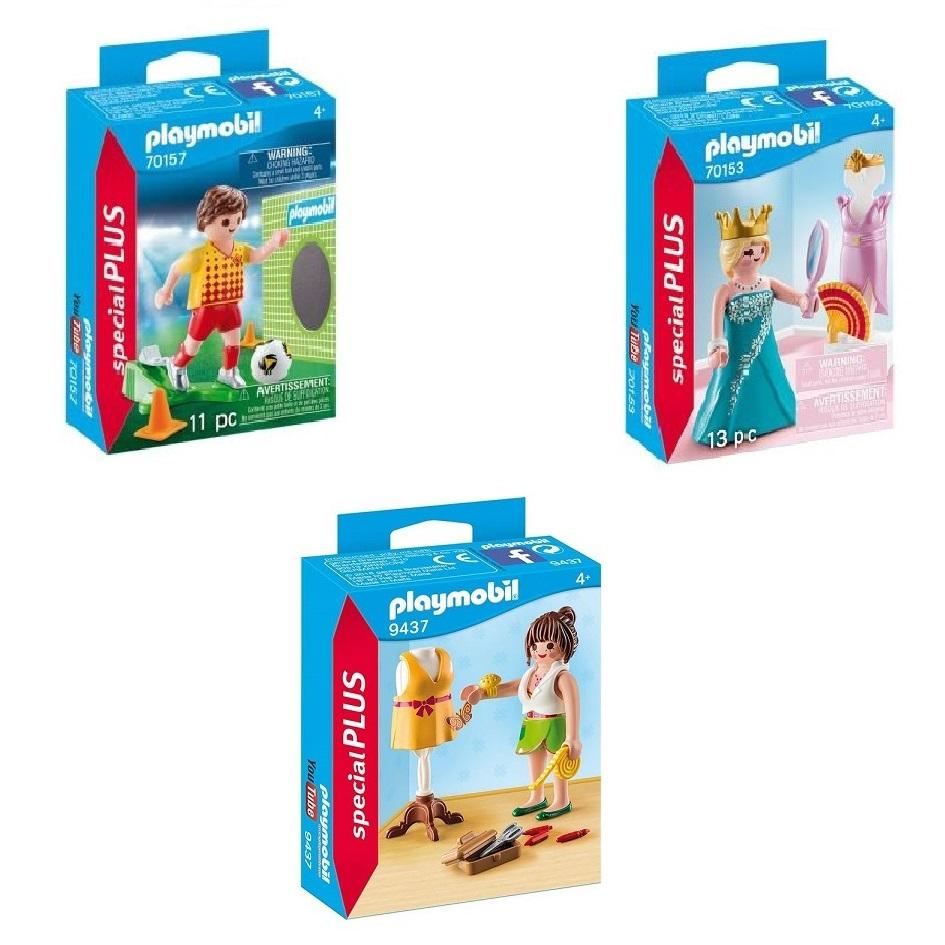 Sélection de Playmobil en promotion - Ex : 70157 Joueur de foot et but / 70153 Princesse et mannequin / 9337 Styliste