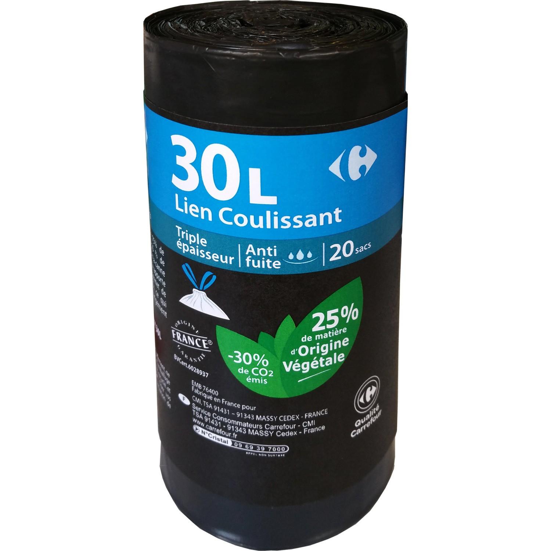 200 sacs poubelle 30L avec lien coulissant - Bonneville (74)