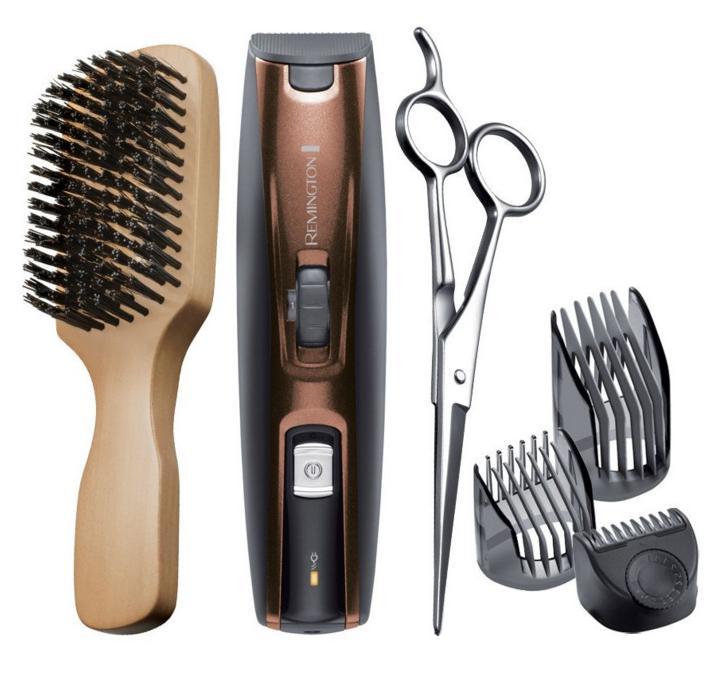 Tondeuse Barbe Rechargeable Titanium + Brosse + Ciseaux Remington MB4045