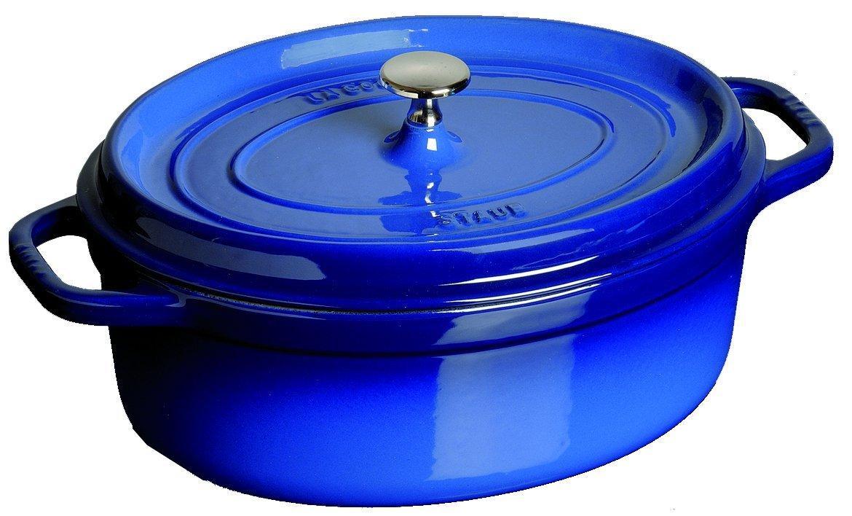Sélection Cocottes Staub en promo - Ex : Cocotte Ovale Bleu Roi -  29 cm