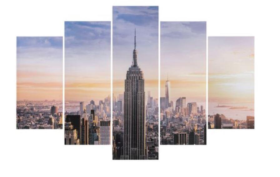 Set de 5 toiles Vista - 100 x 150 cm