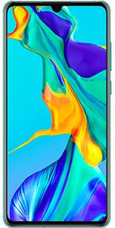 "Smartphone 6.1"" Huawei P30 - full HD+, Kirin 980, 6 Go RAM, 128 Go, Bleu Aurore"