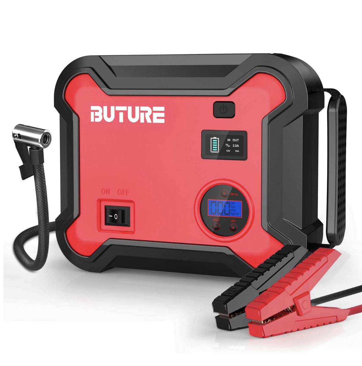 Booster Batterie et Compresseur d'air Portatif BuTure - 2500A / 23800mA (Via Coupon - Vendeur Tiers)