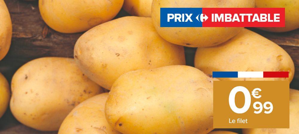 Filet de 2.5kg de pommes de terre de consommation Origine France Catégorie 1