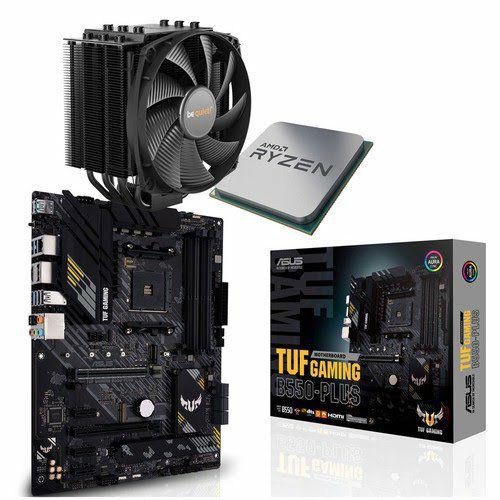 Kit Evo PC - Processeur AMD Ryzen 7 5800X Tray Version + Carte Mère Asus TUF GAMING B550-PLUS + Ventirad Dark Rock 4