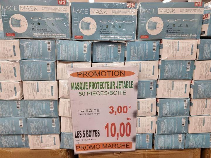 Lot de 5 boites de 50 masques de protection - Promomarché Reims Bétheny (51)
