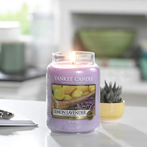 Bougie jarre parfumée Yankee Candle - Grande taille, Citron lavande, jusqu'à 150 heures de combustion