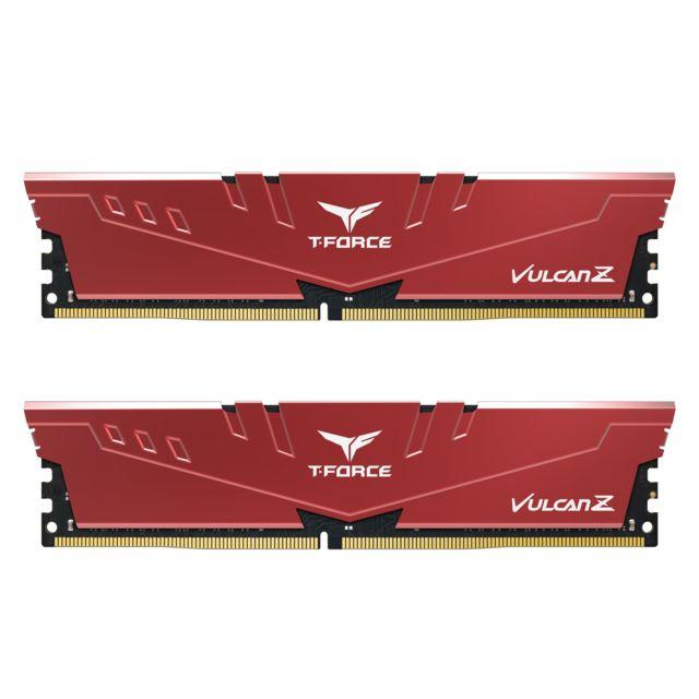 Kit mémoire RAM T-Force Vulcan Z - 16 Go (2 x 8 Go) DDR4, 3600 MHz, CAS 18 (Rouge)
