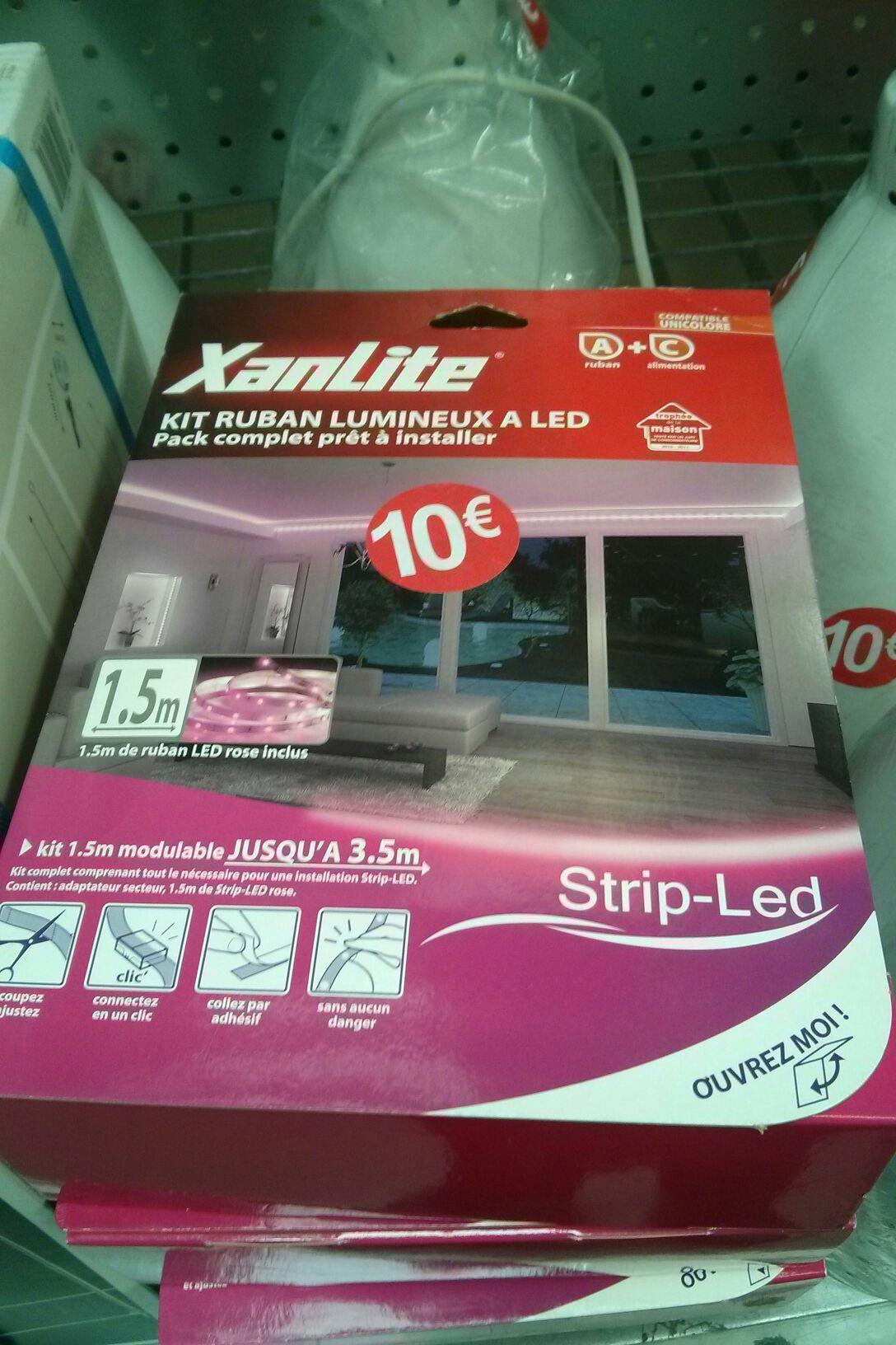 kit ruban lumineux rose à led 1m50 Xanlite pack complet