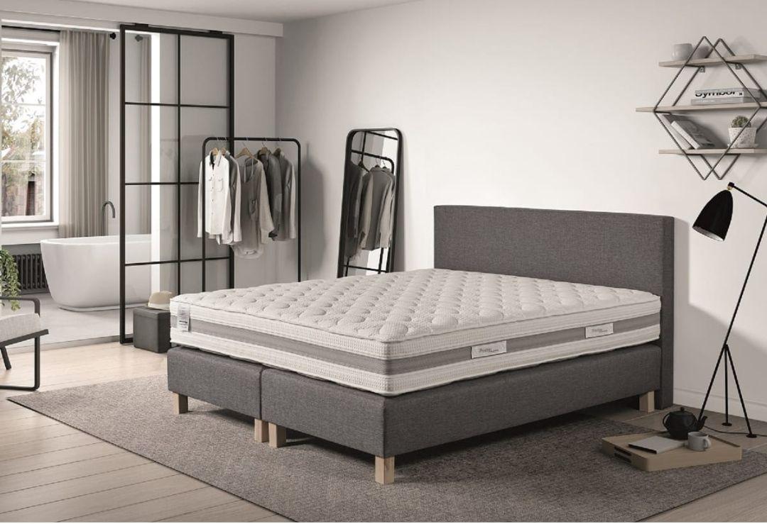 Ensemble Prestige Collection Confort Hotel : Matelas 160 x 200 cm + sommiers + tête de lit + pieds
