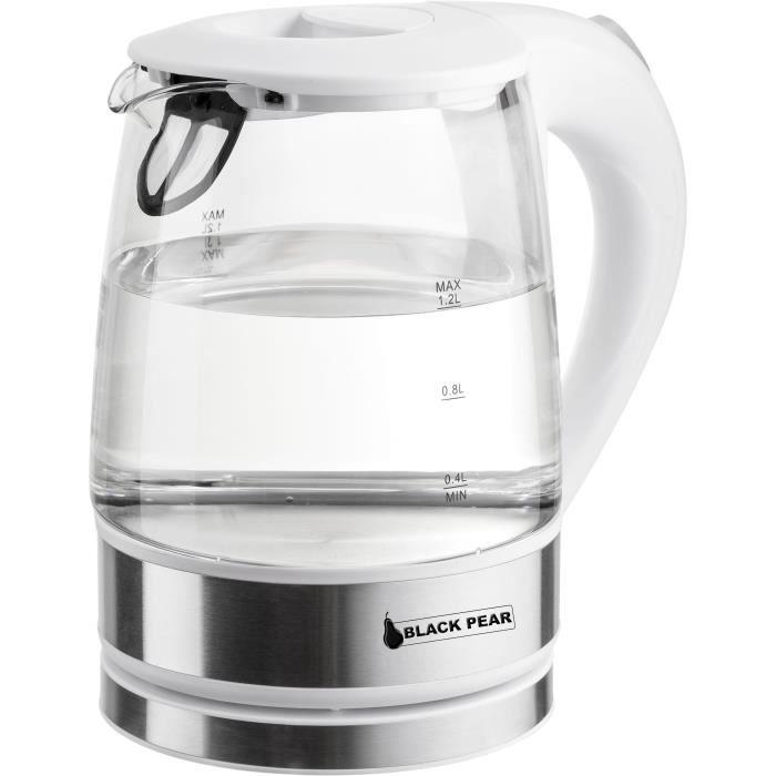 Bouilloire sans fil en verre Blackpear BSF 3000 - 1.2L, 1800 W