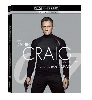 Coffret 4 Blu-ray 4K UHD James Bond 007 - Collection Daniel Craig
