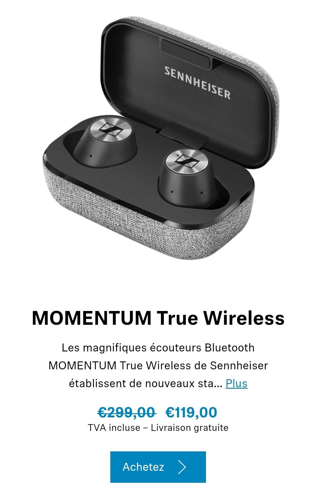 Écouteurs Sennheiser Momentum True Wireless