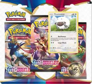 Pack de 3 boosters de cartes Pokemon