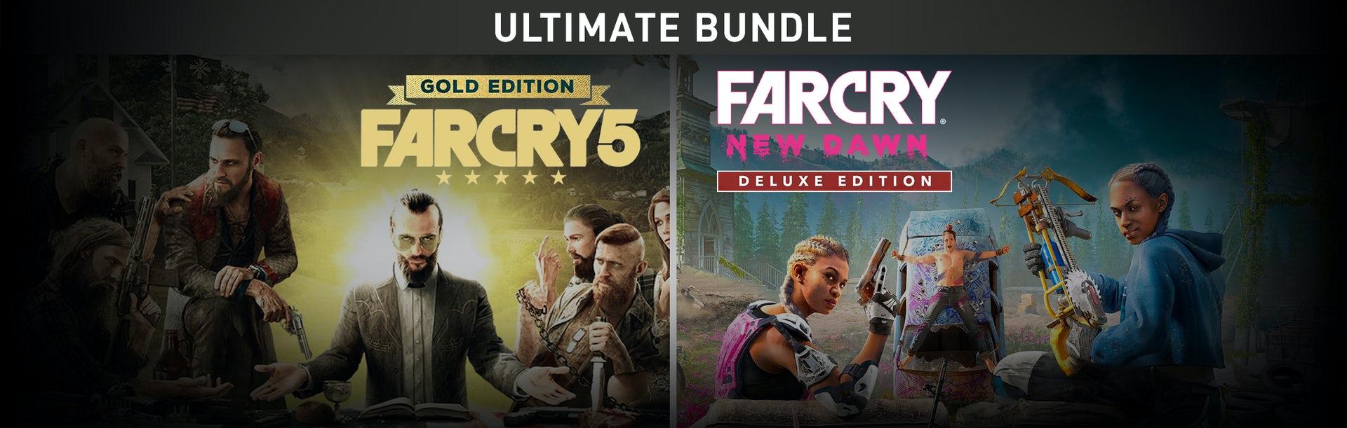 Pack de jeux Far Cry 5 Gold Edition + Far Cry New Dawn sur PC - Deluxe Edition Bundle (Dématérialisé, Uplay)