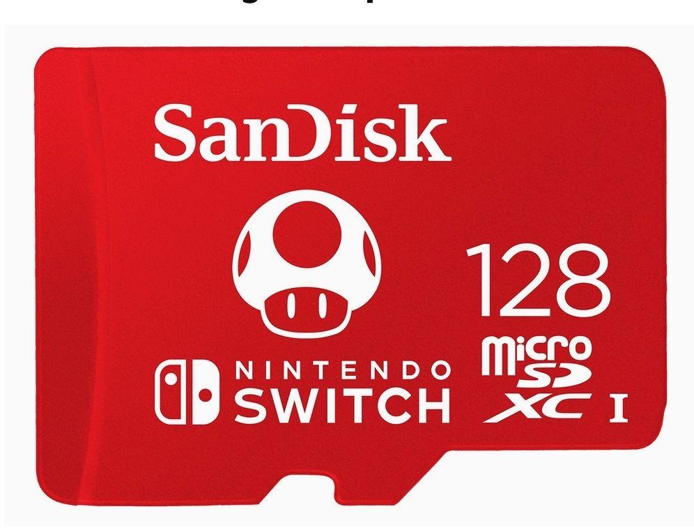Carte mémoire microSDXC UHS-I SanDisk pour Nintendo Switch - 128 Go