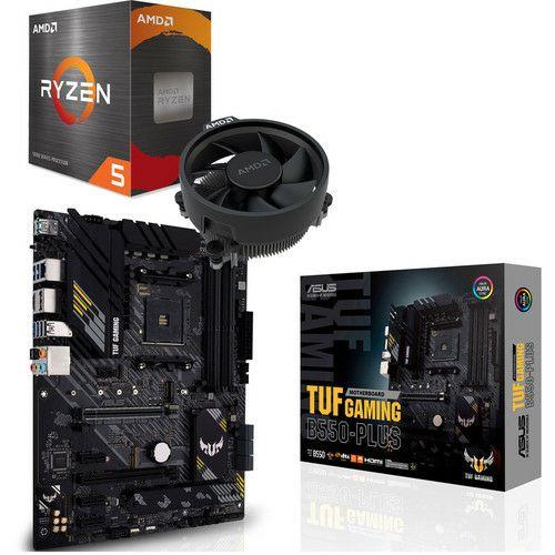 Processeur AMD Ryzen 5 5600X + Carte mère Asus TUF Gaming B550-Plus