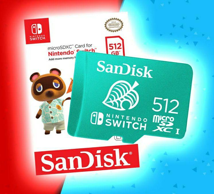 Carte MicroSDXC SanDisk pour Nintendo Switch - 512 Go