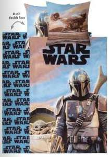 Sélection de parures de lit & de coussins - Ex : Star Wars The Mandalorian en Coton