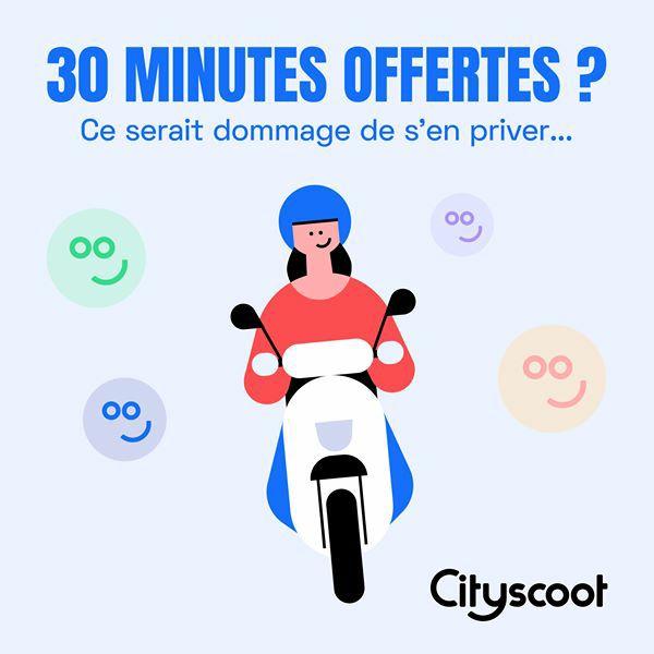 [Nouveaux clients] 30 minutes de location de scooter offertes
