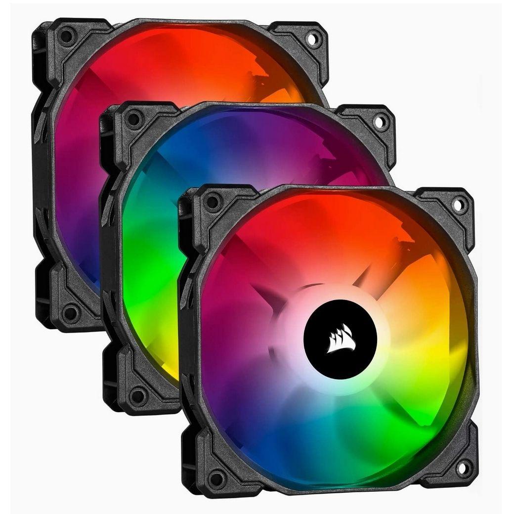 Pack de 3 ventilateurs de refroidissement Corsair ViCUE SP120 RGB PRO avec Lighting Controller