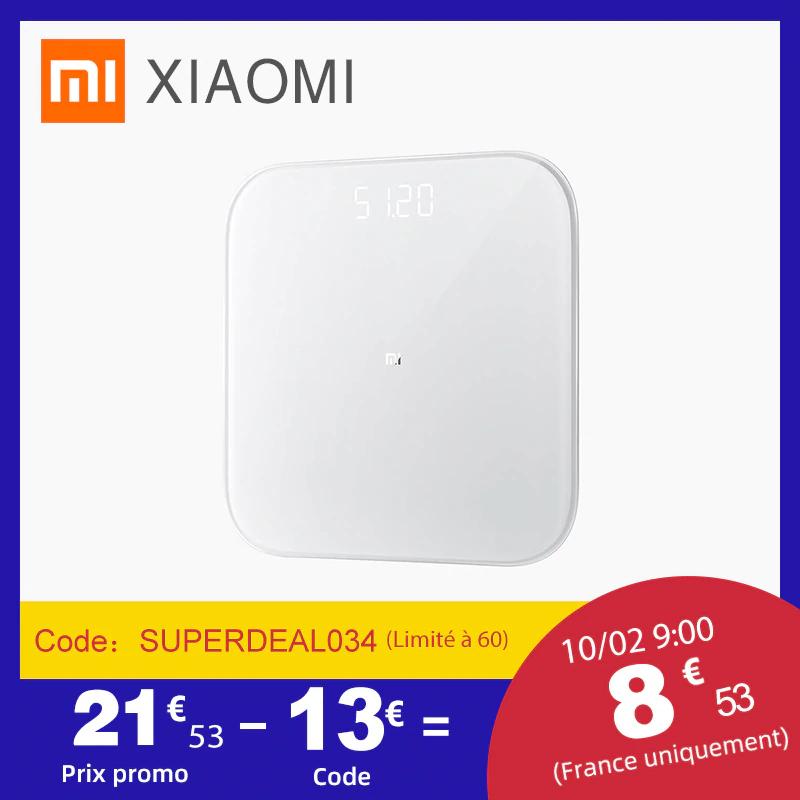 Balance connectée Xiaomi Mi Smart Scale 2 - Bluetooth 5.0 LE (Entrepôt France)