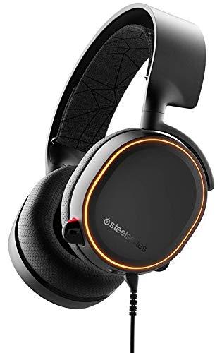 Casque gamer à Éclairage RVB SteelSeries Arctis 5 - Son Surround DTS Headphone:X v2.0 pour PC, PS4 - Noir