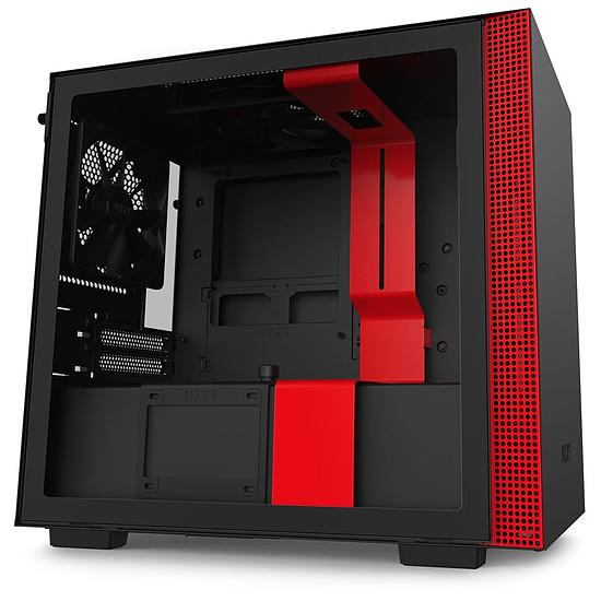 Boitier PC NZXT H210 - Mini-ITX, Noir mat/rouge