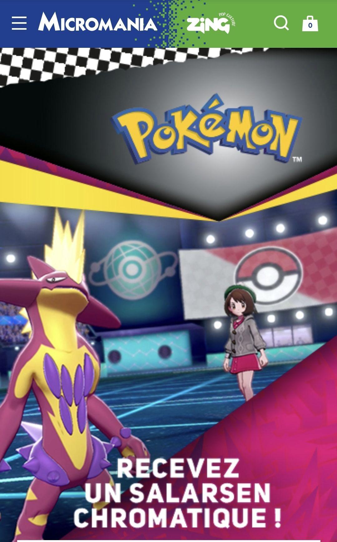 Pokémon Épée et Bouclier : Salarsen shiny gratuit (Dématérialisé)