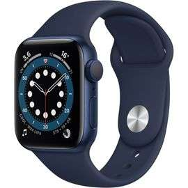 Montre connectée Apple Watch Series 6 (GPS) - 40 mm, Aluminium bleu avec bracelet sport bleu marine (+10.38€ en Rakuten Points)