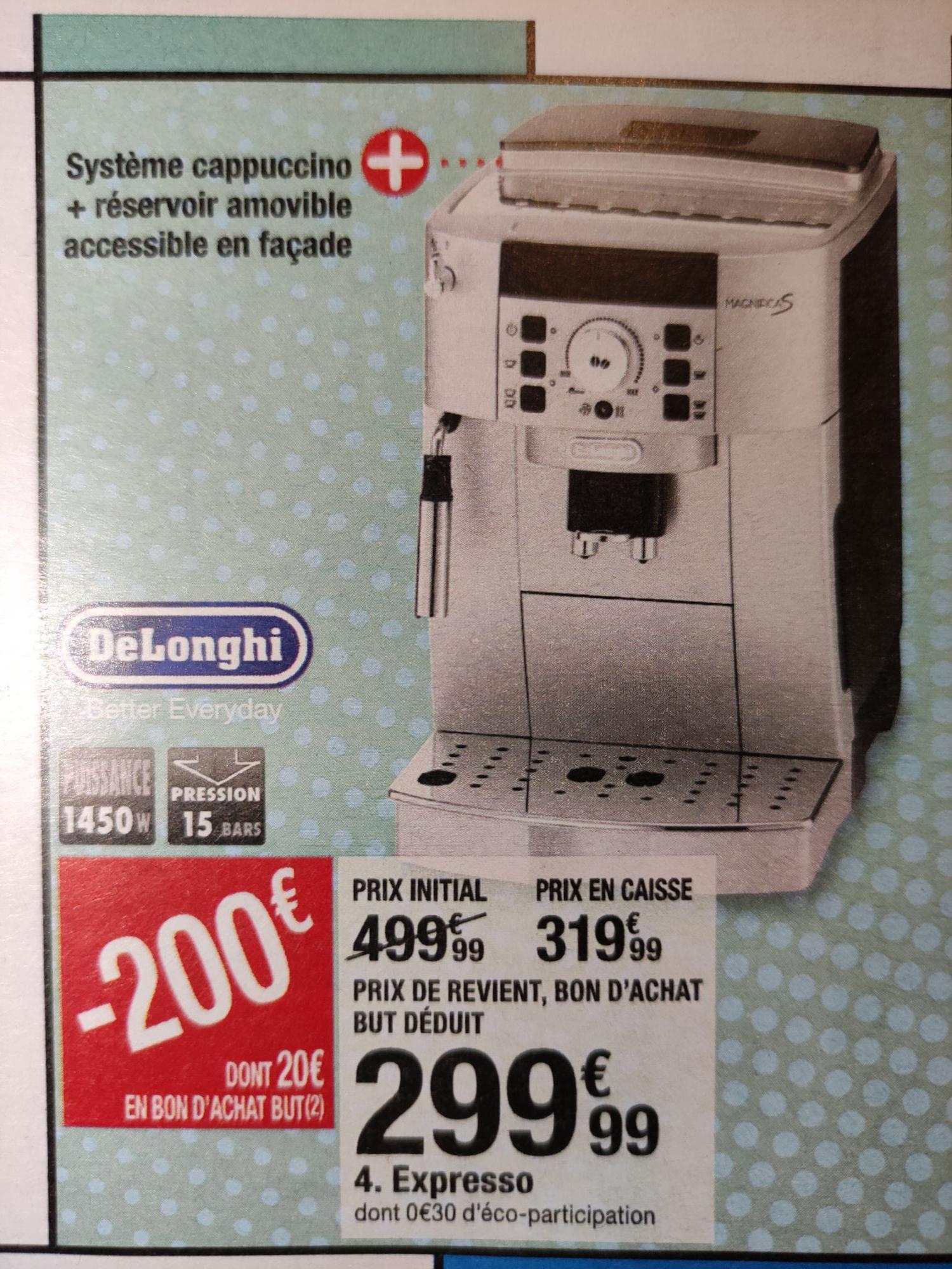 Cafetière broyeur intégré Delonghi ecam 22.140.sb + 20€ en bon d'achat