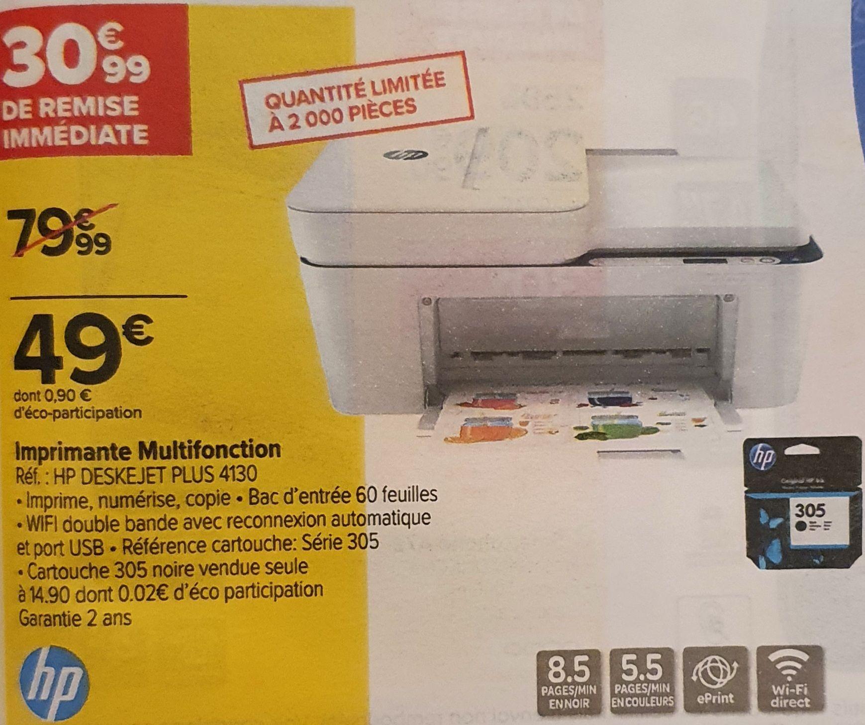 Imprimante multifonction à jet d'encre HP DeskJet Plus 4130