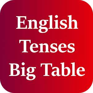 Application English Tenses Big Table Gratuite sur Android