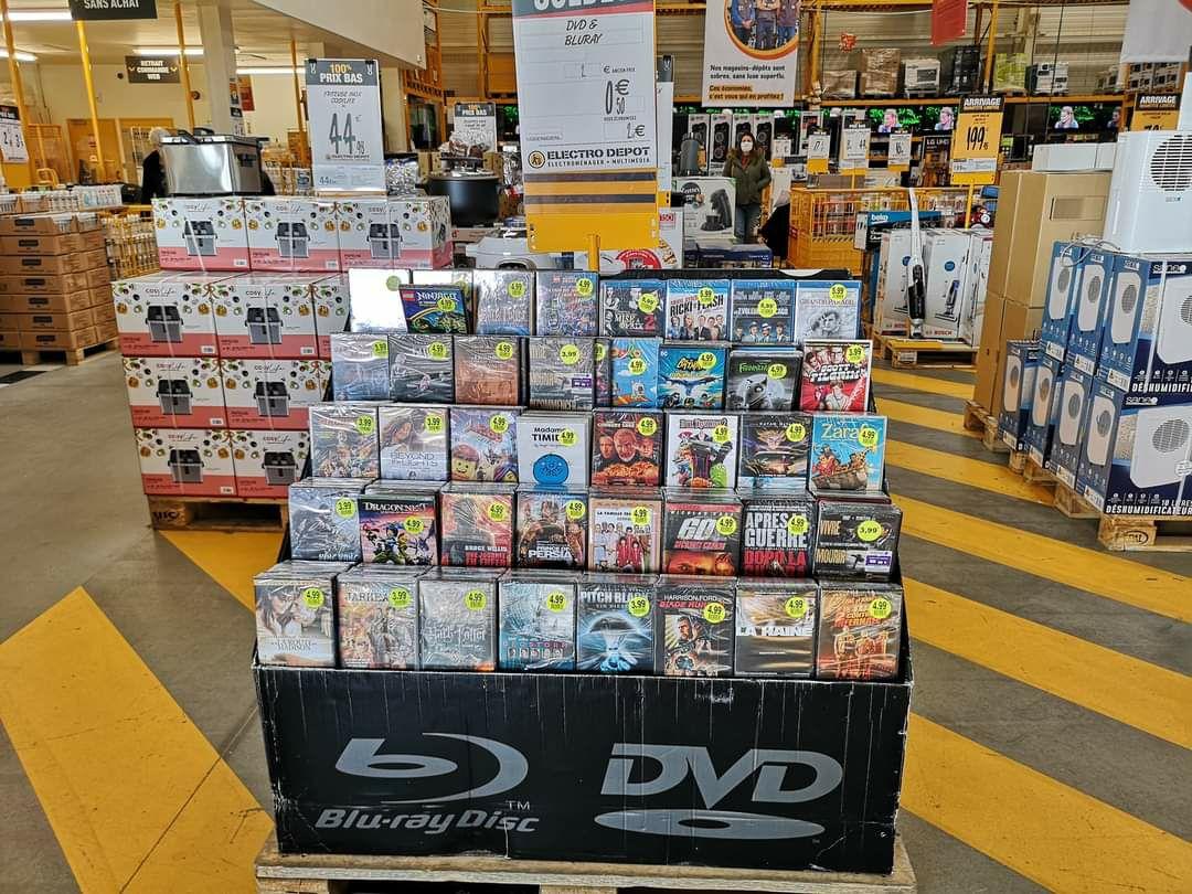Sélection de DVD et Blu-ray à 0.50€ - Kergaradec Gouesnou (29)