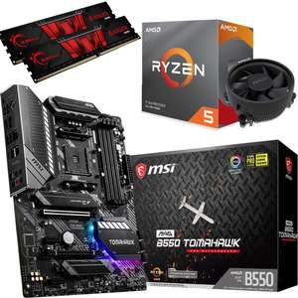 Kit EVO PC - Processeur AMD Ryzen 5 5600X (6x 3.70GHz) + Carte Mère MSI MAG B550 Tomahawk + Barrettes Mémoire(2x8) 16 Go (3200)