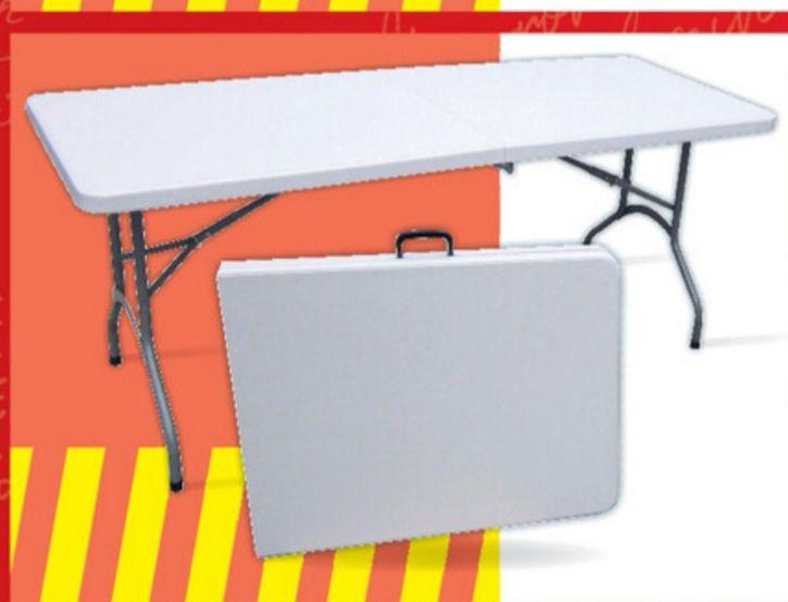 Table pliante multi-usage en résine (180x70x74cm)