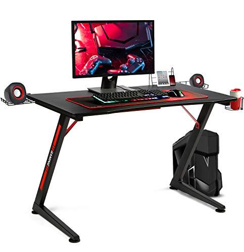 Bureau gaming GTPlayer en métal - 60 x 108 cm, Noir (vendeur tiers)