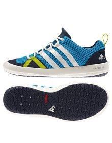 Paire de Baskets Adidas Climacool Boat Lace Solar pour Homme - Blue / White / Navy, Tailles 41 à 45
