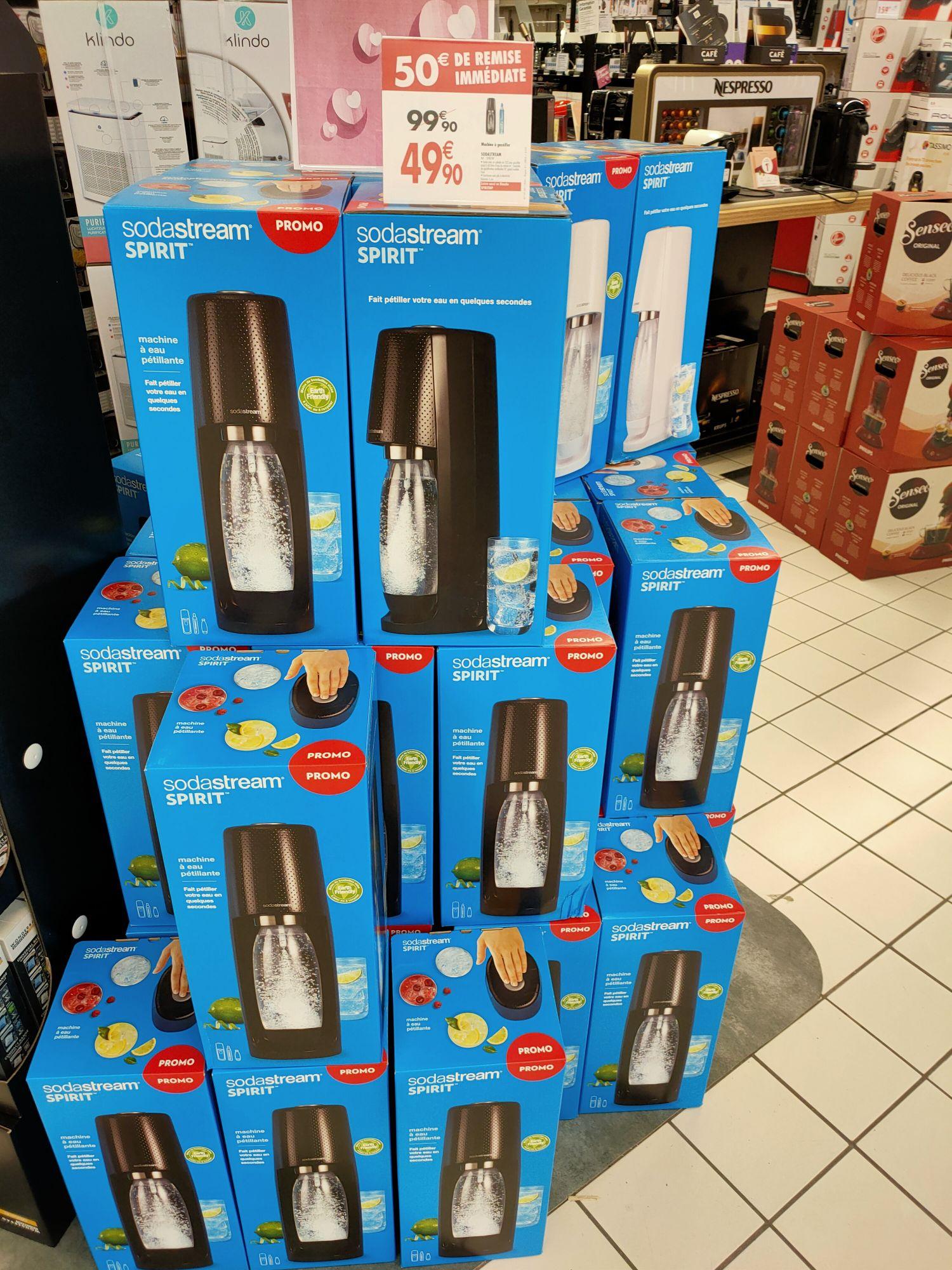 Machine à gazéifier l'eau SodaStream Spirit - Angoulins (17) / Mérignac Soleil (33) / Saint-Jean-de-Védas (34)