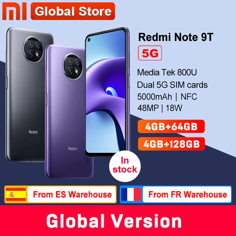 "Smartphone 6.53"" Xiaomi Redmi Note 9T 5G - 64 Go (166,46€ avec coupon)"