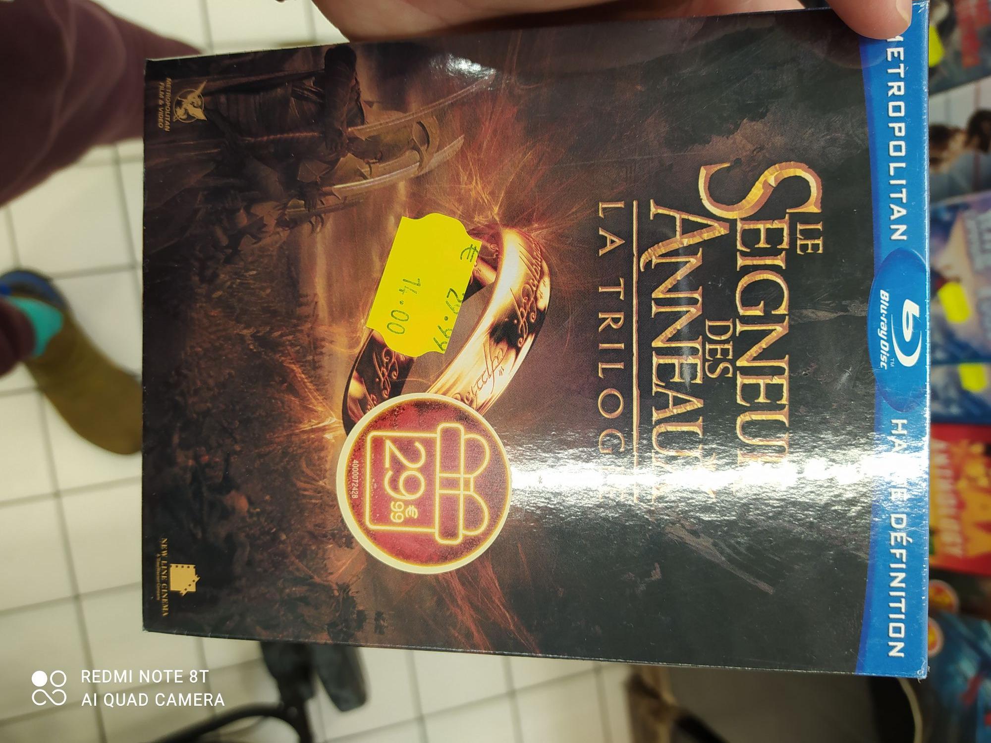 Coffret Blu-ray Trilogie Le Seigneur des anneaux - Illzach (68)