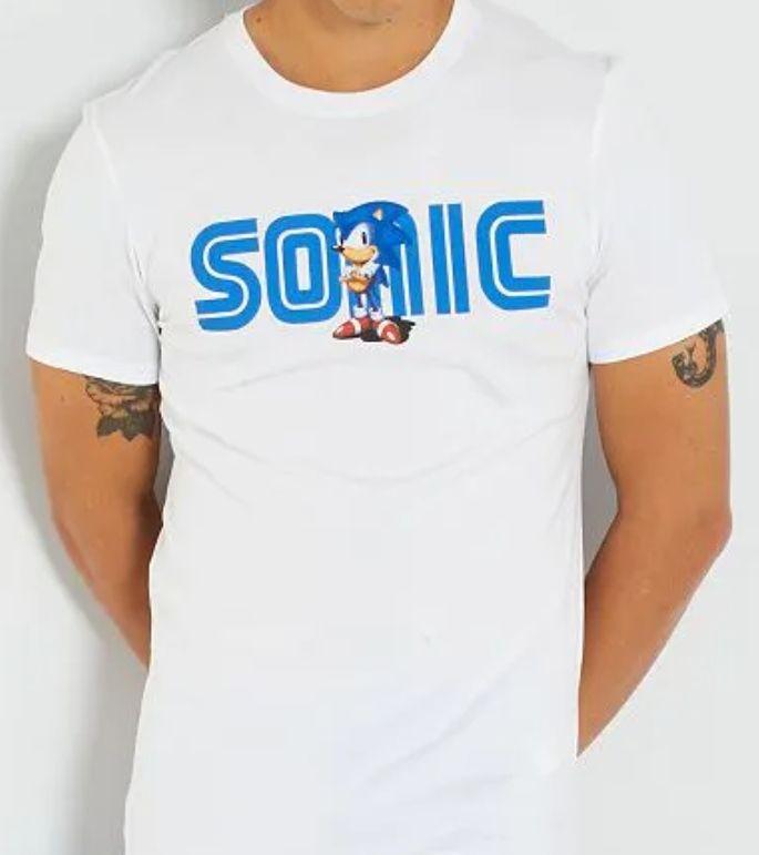 Sélection de t-shirts homme avec logo jeux vidéo en promotion - Ex : T-shirt Sonic