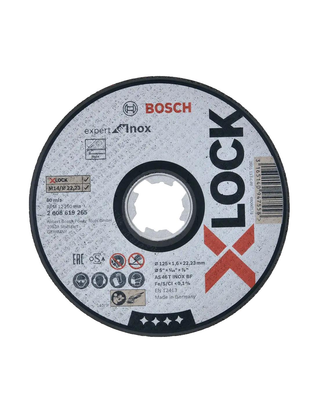 Sélection d'accessoires en promotion - Ex : 25 Disque à tronçonner droits Bosch X-Lock Inox 125x1.6x22.23 mm (ifd-outillage.fr)