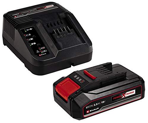 kit 1 Batterie Einhell 2,5 Ah Power X-Change + chargeur (Li-ION, 18 V, Compatible avec appareils PXC, système Gestion Batterie proactif)