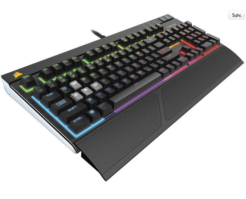15% de réduction sur une sélection de claviers mécaniques Corsair gaming