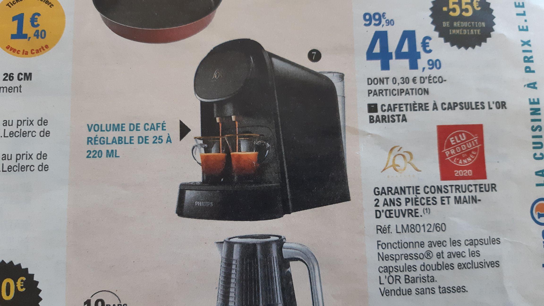 Cafetière à capsules Philips L'Or Barista LM8012/60