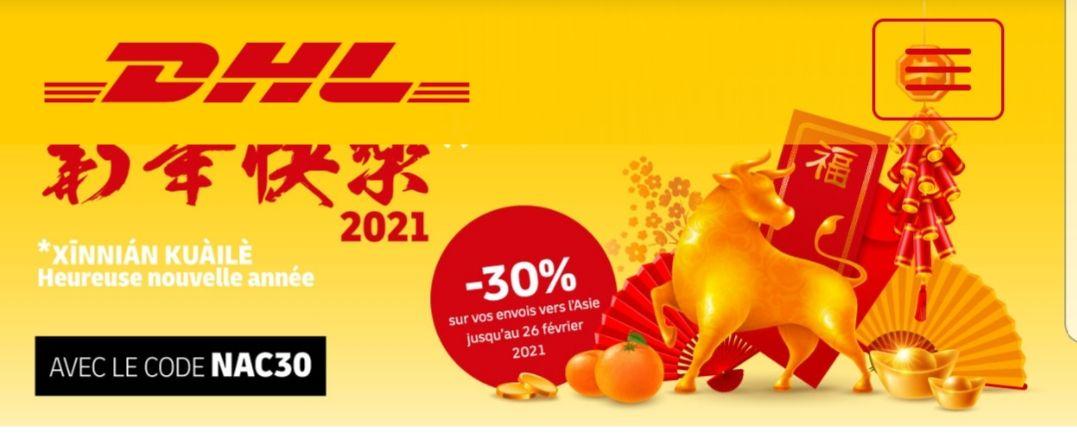 30 % de réduction sur vos envois vers l'Asie (dhlexpress.fr)